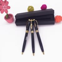 China high quality ball pen with screen printing logo pen inner black box pen on sale
