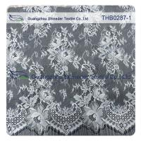 Light Two-tones Colors Polyester & Nylon Chantilly Lace for Wedding & garment dress Manufactures