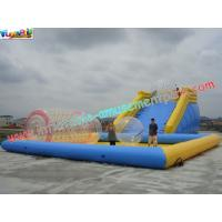 Custom 0.9MM PVC tarpaulin Inflatable above ground pool slides for water toys Manufactures