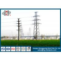 12M 10KV Electrical Power Pole With Hot Dip Galvanized For Power Transmission Line Manufactures