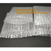 China Reclosable Reusable Packing Bubblemetallic glossy holographic cosmetic packing Ziplock bubble pouch slider zipper bubble on sale