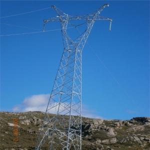 China 220kv 500 Kv Angle Steel Angular Tower For Strain Tension Electrical Power Cable on sale