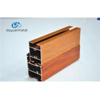 Nature Polishing Custom Aluminum Extrusion Sliding Door Frames Wood Grain Cutting Manufactures