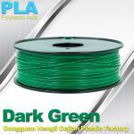 OEM Biodegradable PLA  1.75 / 3.0 mm 3D Printer Filaments ( Dark Green ) Manufactures