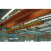 High Speed Double Girder Overhead Crane With Magnet For Lifting Iron / Steel Blocks Manufactures