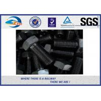China Grade 10.9 Black Surface 45# steel Hexagon Head Bolt  For Railroad on sale