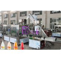 Full Auto Glass Bottle Liquid Filling Machine , Fruit Juice Filler 8000 Bottles Per Hour High Speed Manufactures