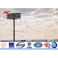 30m painting stadium high mast pole airport lighting with winch Manufactures