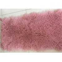 Luxurious Purple Dyed Real Sheepskin Rug 2 X 4 Inch Warm For Cushions / Seat Covers Manufactures