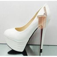 Waterproof fashion high heels shoes wedding shoes tassel shoes Manufactures