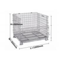 China Professional Metal Cage Containers / Galvanised Steel Cages For Storage on sale