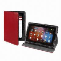 China Stand Design Case for RIM's BlackBerry Playbook, 7-inch Tablet, Genuine or PU Leather Cover on sale