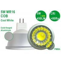 Quality Energy Saving Aluminium 5W 450LM CRI80 Bright G5.3 MR16 Cool White COB Spotlight for sale
