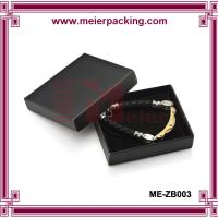 China Euro popular black coated paper jewelry gift box/Men bracelet paper box ME-ZB003 on sale