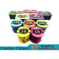 Acrylic Casino Style Poker Chips Tough And Durable With ABS New Material Manufactures