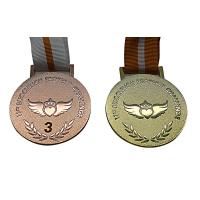 Raised Logo Metal Award Medals Exquisitely Designed With Printed Lanyard Manufactures