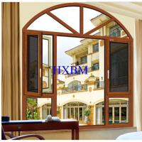 China High end Composite Wood clad aluminum casement Windows with Double Glazing on sale