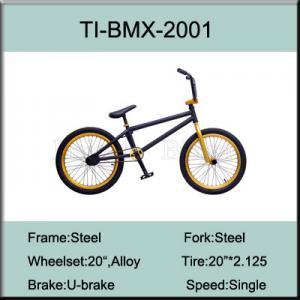 China 20 Inch Chromoly Steel BMX Bike / Steel 4130 Freestyle Bike Factory on sale