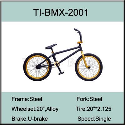 Quality 20 Inch Chromoly Steel BMX Bike / Steel 4130 Freestyle Bike Factory for sale