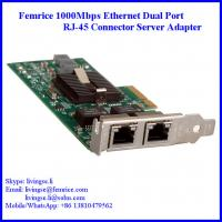1G Dual Port Gigabit Server Ethernet Network Card, RJ-45 Connector, Femrice 10002ET Manufactures