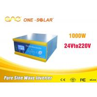 Low Frequency Single Phase Solar Panel Power Inverter 1000w 24vdc To Ac Without Battery Manufactures