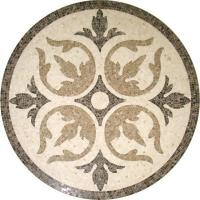 Solid Surface Marble Medallion Floor Tile , Decorative Custom Floor Medallions Manufactures