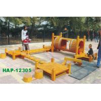 China Wooden Outdoor Playground Equipments for Theme Parks HAP-12305 on sale