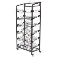 Inro 6 Shelves Metal Wire Display Racks With Caters Adjustable Height Shelf Manufactures