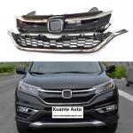 Upper + Lower Chrome Front and Bumper Grille Set For Honda CRV CR-V 2015-2016 Manufactures