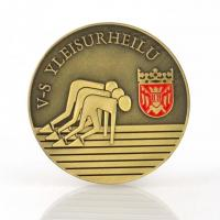 Brass Medallion Custom Metal Medal , Engraved Sports Medals With Stripes Manufactures