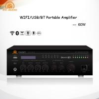 China RH-AUDIO Compact 60W Wifi Signal Amplifier with Mic Paging/Mixing for Home Theater on sale