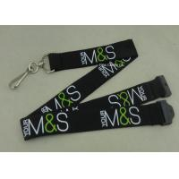 Custom Company Woven Lanyard Holder Sublimation Ribbon For Fair Show ID Card Manufactures