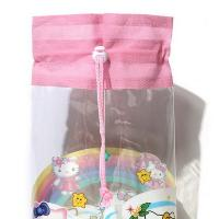 Heat Sealed Technics Clear Drawstring Bags , Small Drawstring Bags For Cosmetics Manufactures