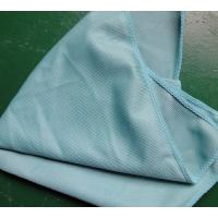 China 40 * 40cm 260gsm Microfiber Glass Cleaning Cloth Green Thick Fashinable Soft on sale