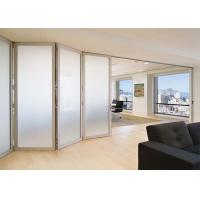 Lowes Commercial Aluminium Doors Exterior Sliding Folding French Doors Brown / White Color Manufactures