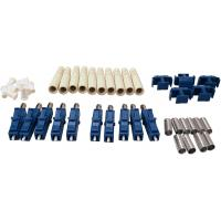 China LC Duplex Fiber Optic Connectors One-piece or Unassembled SM MM for 3.0mm Cable on sale