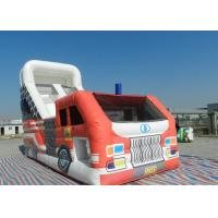 Race Car Jumping Inflatable Dry Slide Boys Playground High Resolution Digital Printing Manufactures