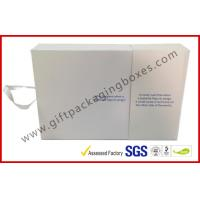 White Magetic Electronics Packaging / Custom Advertising Video Box Manufactures