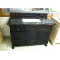 China Black Color 40 Inch Bathroom Vanity Cabinet , Bathroom Sink Cabinets on sale