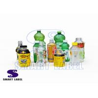 China Recycle Shrink Wrap PET Bottle Wrap Labels for Energy Drinks / Paints / Detergent on sale