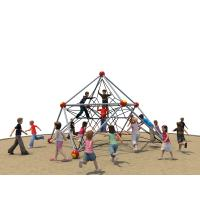 Playground Kids Climbing Net , Star Shape Ropes With Aluminium Alloy Clamps Manufactures