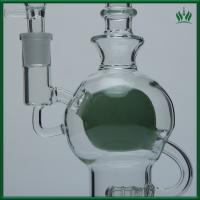 Quality Fab Egg Glass Smoking Water Pipe Bubbler 10 Inches With Showerhead Perc for sale