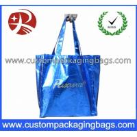 Biodegradable Die Cut Handle Plastic Bags Soft Flex - Loop Carrier With Punch Hole Manufactures