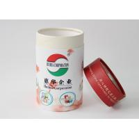 China Light weight Round Cardboard storage cylinder Tubes Food Packaging , paper tea cans on sale