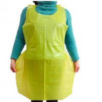 China Waterproof Disposable Plastic  Aprons Kitchen LDPE HDPE For Kitchen Hotel Cooking on sale