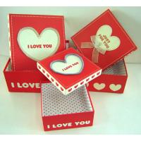 Red 5 * 5 * 3 Inch Cardboard Candy Box, Decorating Gift Boxes For Wedding Manufactures
