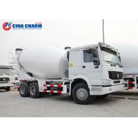 Large Howo 8 * 4 12m3 Cement Pump Truck , 3 Yard Mobile Cement Mixer Trucks Manufactures