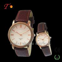 Lover watch with Alloy case,PU leather strap made in China Manufactures