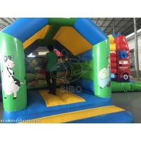 Durable Inflatable Kids / Childrens Bouncy Castle With Slide Safety Fire Proof Manufactures