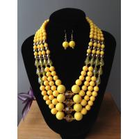 China Fashion Exporting designs fashionable four  layers acrylic/resin beads handmade jewelry set on sale